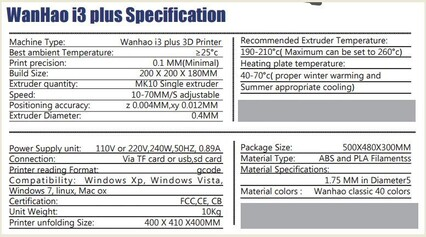 3D PRINTERS 4U | WANHAO I3 PLUS NOW ONLY $749,,,,,,,OUR BEST SELLER